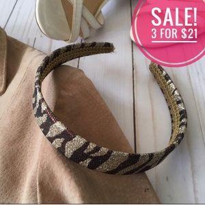 ♦️3/$21❗️Glitter tiger stripe head band